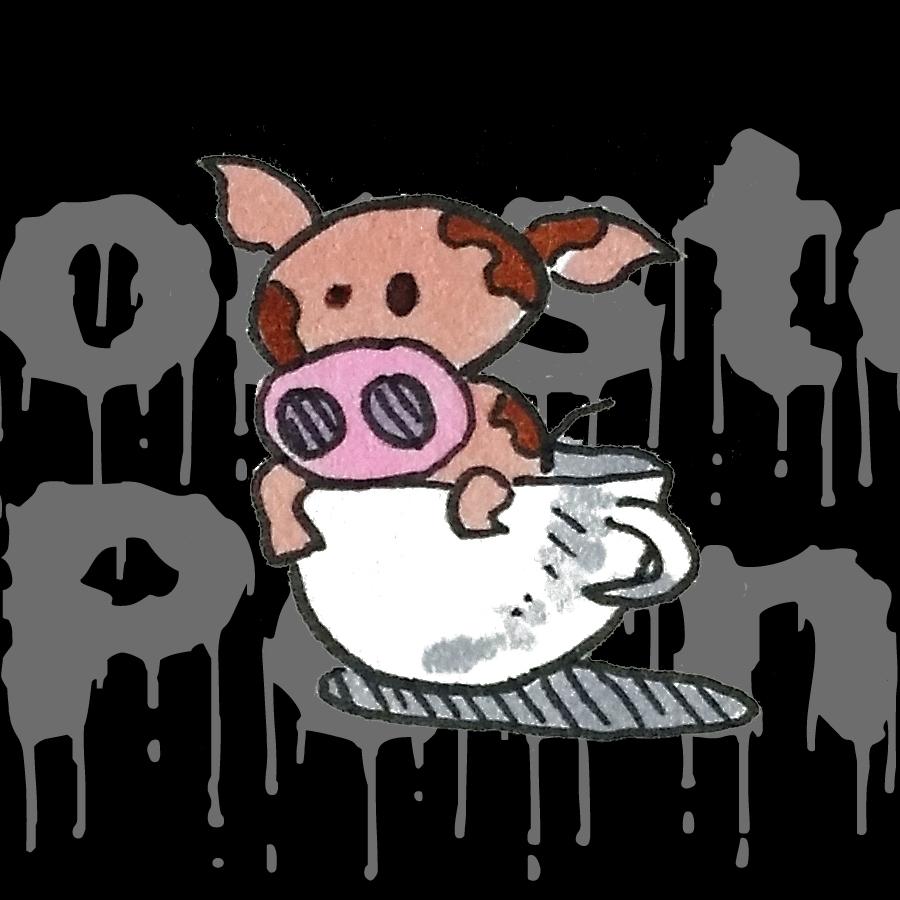 Puggles the Teacup Pig on Monster Porn Podcast